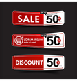024 Collection of red and white web tag banner vector image vector image