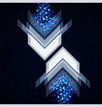 abstract arrows technology background vector image vector image