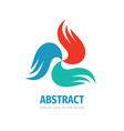 abstract wings concept logo design dynamic vector image vector image