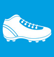 baseball cleat icon white vector image vector image