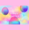 bright vibrant background for easter holiday vector image