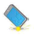 broken smartphone vector image vector image