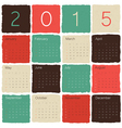 calendar 2015 tile colorful vector image