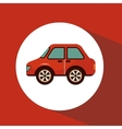 car isolated icon vector image vector image
