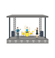 cartoon open air festival isolated on white vector image vector image