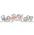cartoon people - happy music festival vector image