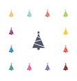Christmas tree flat icons set vector image
