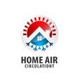 circle arrow home air circulation logo concept vector image vector image