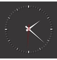 Clock symbol on dark backgroundclean vector image