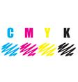 cmyk stroke vector image vector image