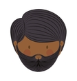 colorful arabic man head without turban and beard vector image
