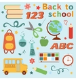 Colorful back to school set vector image vector image