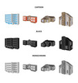 design of facade and housing symbol set of vector image vector image