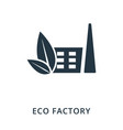 eco factory icon flat style icon design ui vector image