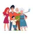 family photo selfie group portrait three vector image vector image