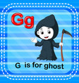 flashcard letter g is for ghost vector image vector image