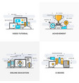 flat line designed concepts 6-colored vector image vector image