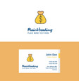 flat money bag logo and visiting card template vector image vector image