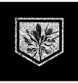 floral logo 04 grunge vector image vector image