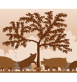 Foraging pigs vector image vector image
