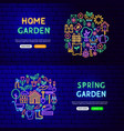 garden nature banners vector image vector image