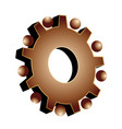 gear setting icon logo vector image