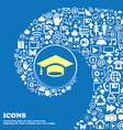 Graduation icon Nice set of beautiful icons vector image