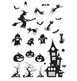 halloween blackwhite icon vector image vector image