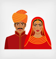 Indian man and woman in traditional clothes vector image vector image