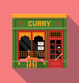 Indian Restaurant Shopfront vector image vector image