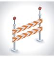 isometrics road sign design vector image