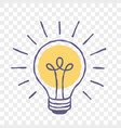 lamp idea lightbulb doodle sketch icon vector image