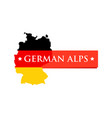 logo of german alps vector image