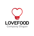 Love Food Design vector image