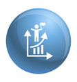 man grow up chart icon simple style vector image