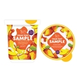 Mango Yogurt Packaging Design Template vector image