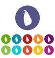 Map of Sri Lanka set icons vector image vector image
