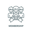 membership line icon linear concept vector image vector image