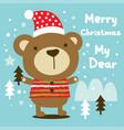 merry christmas my dear vector image