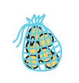 mesh shopping bag ecological concept reusable bag vector image vector image