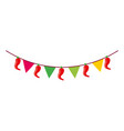 mexican garland with banner and chili pepper vector image vector image