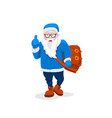 modern santa claus cool funny style character vector image vector image