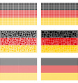 Mosaic Germany flag set vector image vector image