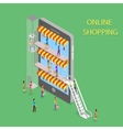 Online Shopping Isometric Concept vector image