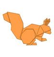 origami squirrel icon cartoon style vector image vector image