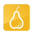 Pear outline icon Fruit vector image vector image