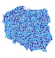 poland map composition of pixels vector image