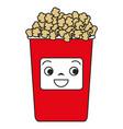 Pop corn kawaii character