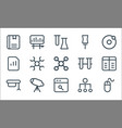 school education line icons linear set quality vector image vector image