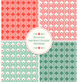 seamless abstract geometric holiday patterns vector image vector image